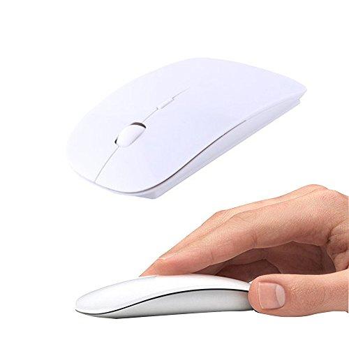 UrChoiceLtd® Ratón Inalambrico, 2.4GHz Inalámbrico Forma De Ajuste Ergonómico Curvo USB Inalámbrico Óptico...