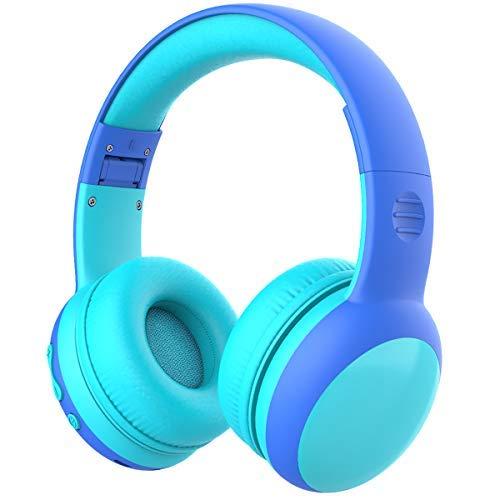 Auriculares Bluetooth para niños, Auriculares Plegable para niños con 85dB Volumen Limitado, Auriculares Ajustable y...