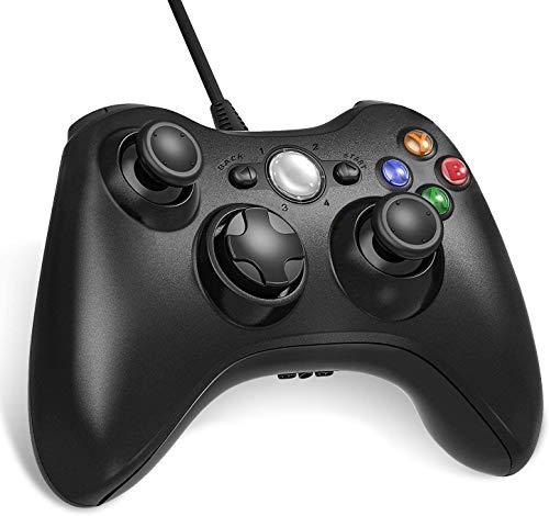 Lunriwis Xbox 360 Mando de Gamepad, Controlador Mando USB de Xbox 360 con Vibración, Controlador de Gamepad para Xbox...