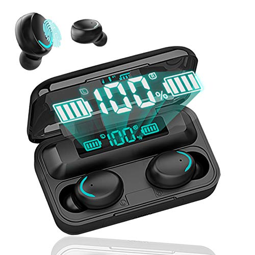 Auriculares Inalámbricos Bluetooth 5.0,In-Ear Auriculares,Microfono Integrado,Carga con Cable USB,HiFi Calidad De...