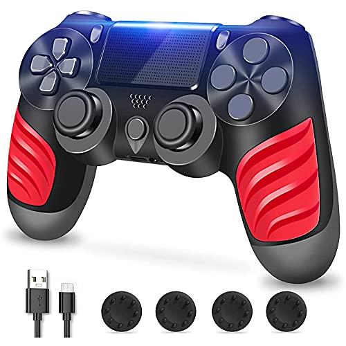 Zcity Mando PS4, Mando Inalámbrico para Playstation 4, Controlador Inalámbrico Gamepad Doble Vibración para Playstion...