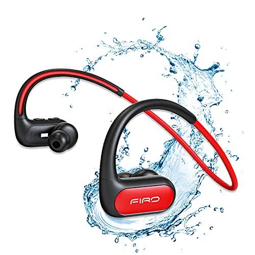 Auriculares inalámbricos, banda para el cuello, auriculares Bluetooth IPX8, impermeables, con cancelación de ruido,...