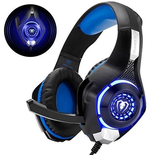 Beexcellent GM-1 - Auriculares Gaming para PS4, PC, Xbox one, PlayStation - Psone, Cascos Ruido Reducción de Diademas...