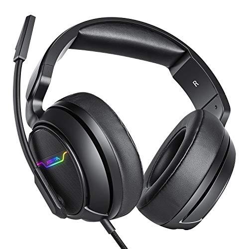 XIBERIA-Auriculares para Xbox One, PS4, Auriculares para Juegos, Auriculares estéreo de 3,5 mm con micrófono de...