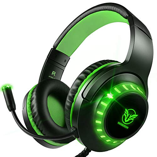 Pacrate Xbox One Cascos Gaming para PS4 PS5 PC Laptop Switch, Auriculares Gaming Estéreo Sonido, Cascos con Microfono...