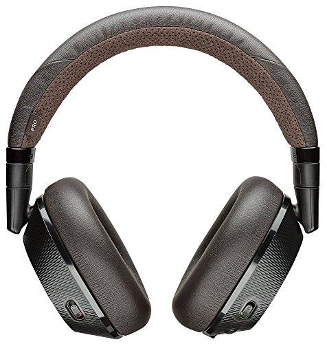 Plantronics Backbeat PRO 2 - Auriculares Inalambricos con Microfono i Anulacion de Ruido, Negro/Marron