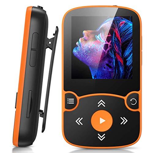 AGPTEK 32GB Clip Reproductor MP3 Bluetooth 5.0, HiFi MP3 Player Portátil Deportivo con Radio FM, Grabación de Voz,...