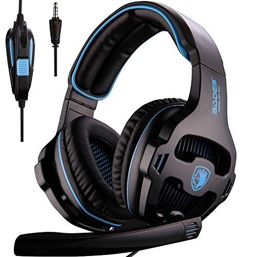 [Auriculares Xbox one, 2018 SADES SA810 Nuevo Xbox one PS4 para micrófono Auriculares para juegos] Auriculares con...