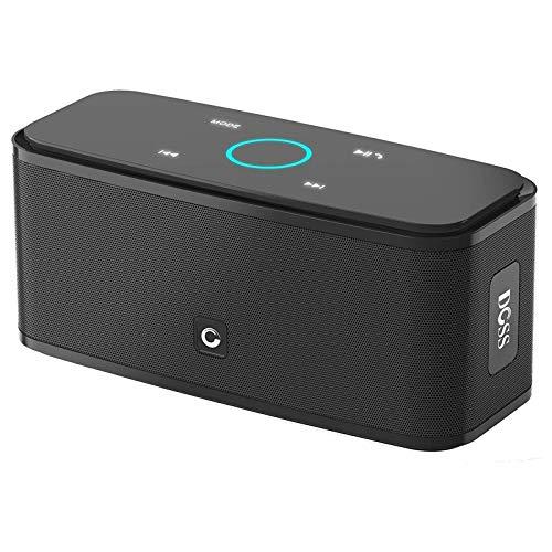 DOSS SoundBox - Altavoz Bluetooth con Tacto Sensible, Potente Subgrave 12W,Doble Controlador Integrado,12 Horas de...