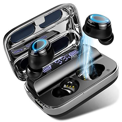 Auriculares Bluetooth 5.0 Inalámbrico, Auriculares Bluetooth con 140H Caja de Carga, HiFi Estéreo In-Ear Auriculares...