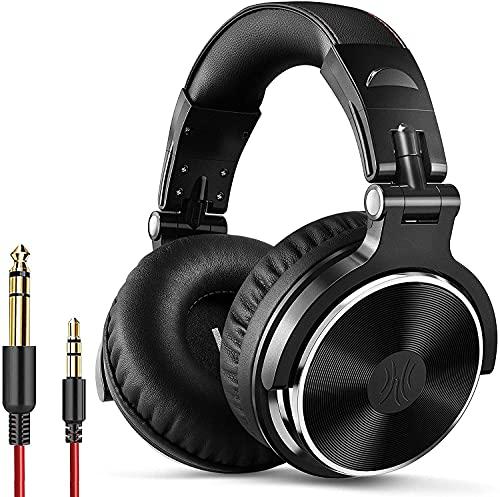 OneOdio Auriculares DJ con Cable Sobre la Oreja, Estéreo de Mezcla y Monitor de Estudio, 50mm Controladores, 3.5 y...
