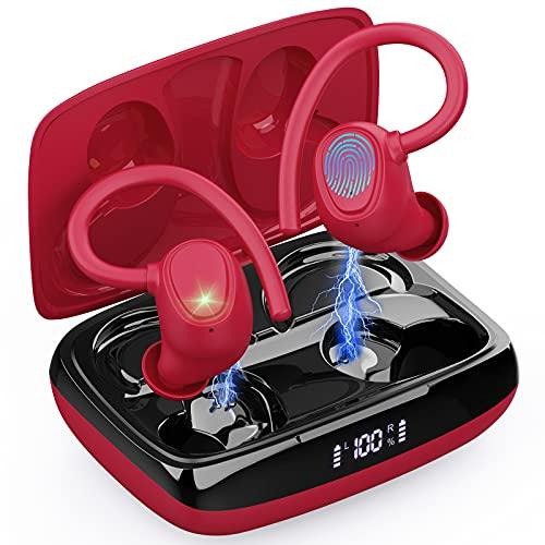 Auriculares Inalambricos Deportivos, Auriculares Bluetooth 5.1 Sport, Cascos Inalambricos Deporte con Ganchos IP7...
