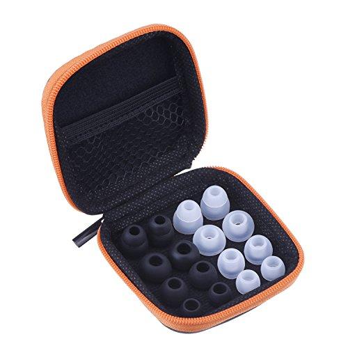 Almohadillas de Auriculares de Reemplazo Set de Eartips para Powerbeats 2 Wireless con Caja Portátil de Auriculares