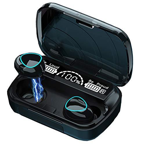 Luisport Auriculares Bluetooth Auriculares inalámbricos Bluetooth Auriculares con Microfono y con 2000mAh Caja de Carga
