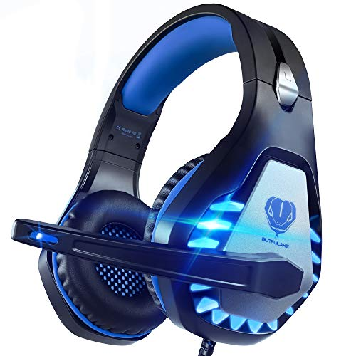 Pacrate Auriculares Gaming para Xbox One PS4 PC Nintendo Switch Mac, Auriculares con Microfono con Sonido Envolvente y...