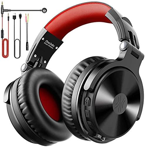 OneOdio Auricurales Bluetooth Inalámbricos 80H, Auriculares Estéreo con Cable para Juegos, Micrófono Boom para PS4,...