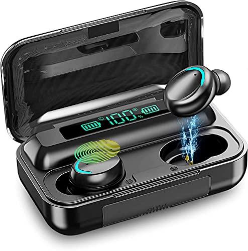 Auriculares Bluetooth 5.0 con Pantalla LED, Auriculares inalámbricos con micrófono, Auriculares TWS Impermeables IPX8,...