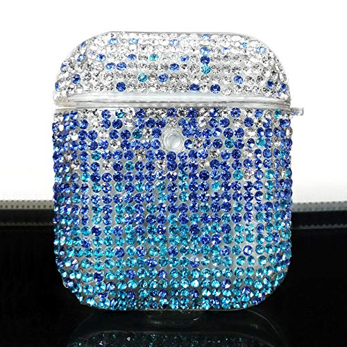 Adecuado para airpods Funda Protectora de Diamantes Carcasa rígida de Diamantes de imitación con Carcasa inalámbrica...